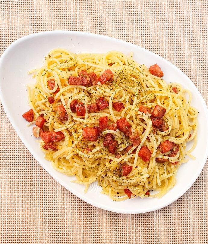 Espaguete com Calabresa